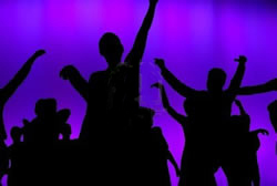 dancers purple